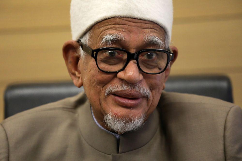 PAS president Datuk Seri Abdul Hadi Awang speaks during an interview with Reuters in Kuala Lumpur August 12, 2020. — Reuters pic