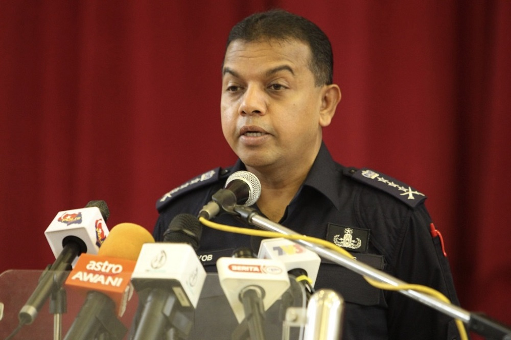 Johor police chief Datuk Ayob Khan Mydin Pitchay said the total amount of drugs and property seized from the syndicate was estimated to be valued at RM712,452. — Picture by Ben Tan
