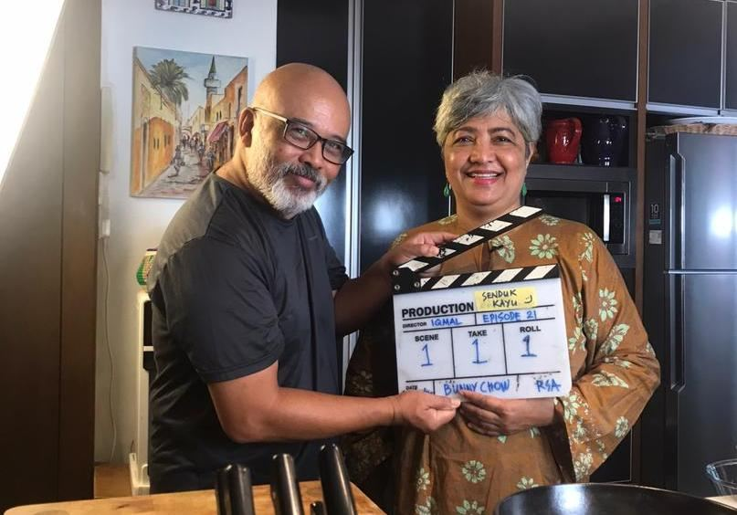 Azah (right) with her husband Shah Shariff, who helps caption her videos in addition to being assistant director, assistant photographer and producer. — Picture courtesy of Noor Azah Johari