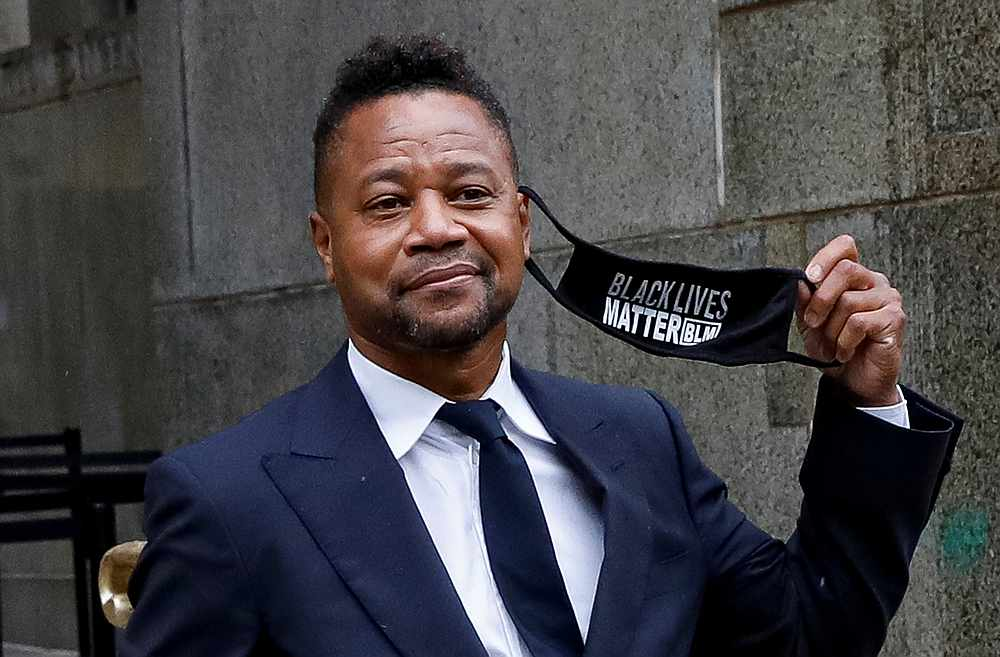 Actor Cuba Gooding Jr departs after a hearing at New York Criminal Court in the Manhattan borough of New York August 13, 2020. — Reuters pic