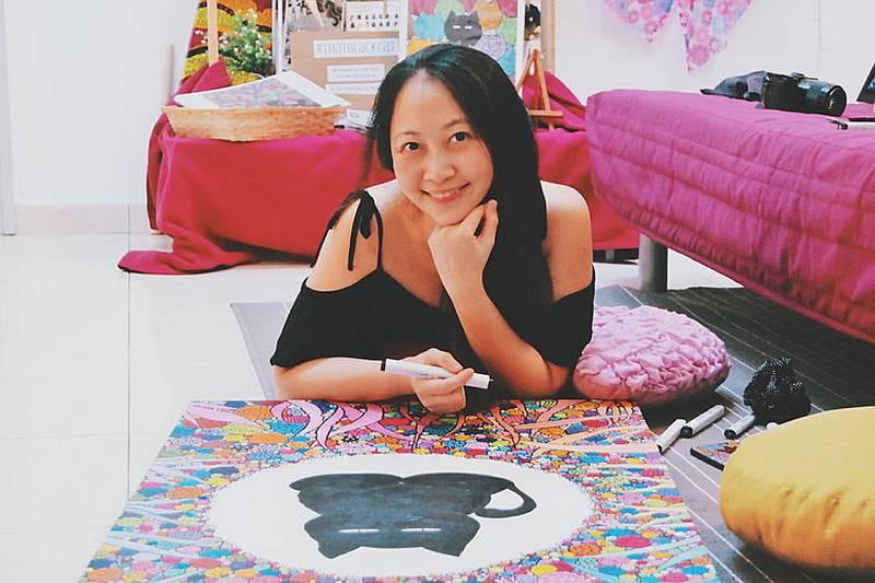 Elaine Wong Kam Chee was a high flying software consultant in Germany before deciding to return to Malaysia to become a full-time artist. — Picture courtesy of Elaine Wong Kam Chee