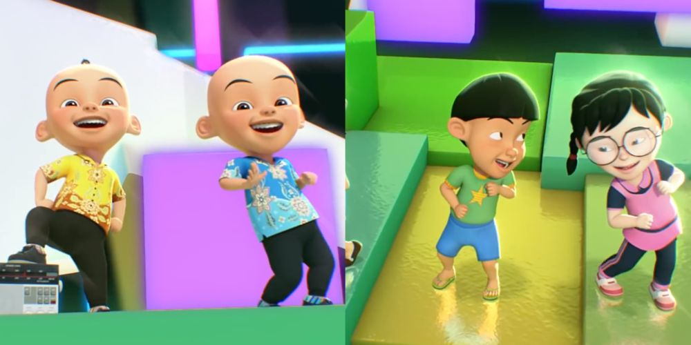 'Goyang Upin Ipin' has received mixed reactions online with some saying that kids shouldn't be copying the dances shown in the music video. — YouTube screengrab
