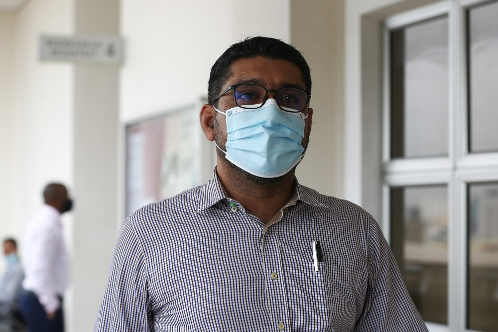 Former psychiatrist Dr Gurdeep Singh is seen at the Magistrate's Court in Petaling Jaya August 12, 2020. ― Picture by Yusof Mat Isa