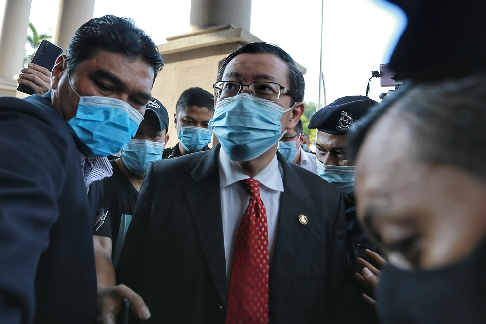 Lim Guan Eng  that carrying out needed infrastructure projects would stimulate the economy depressed by the pandemic.  ― Picture by Ahmad Zamzahuri