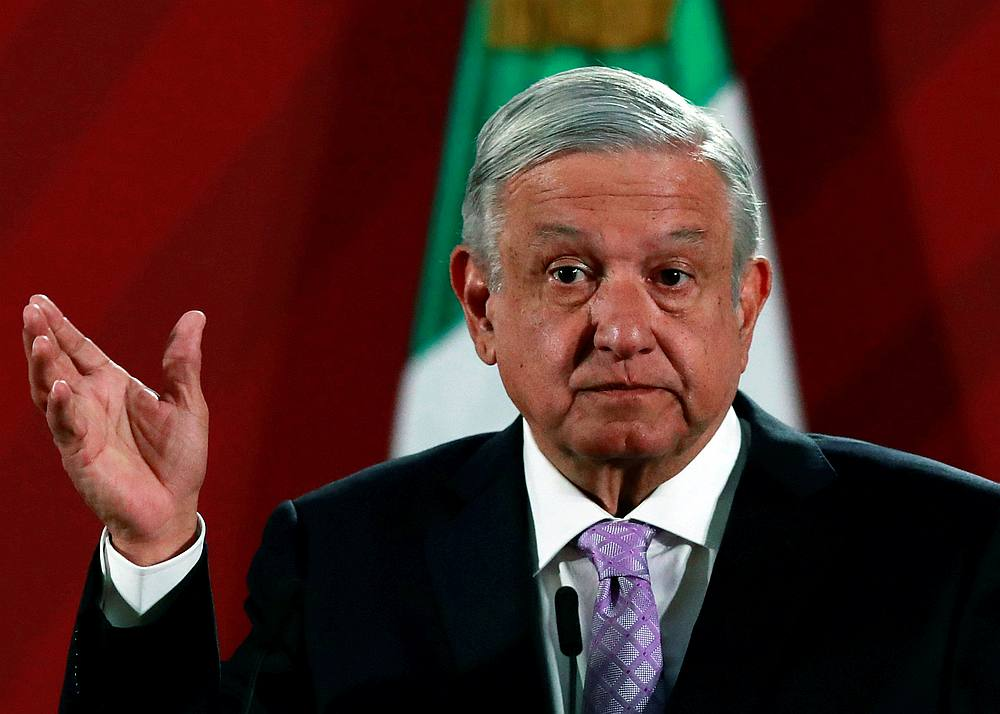 Mexico's President Andres Manuel Lopez Obrador during a news conference at the National Palace in Mexico City, Mexico February 18, 2020. — Reuters pic