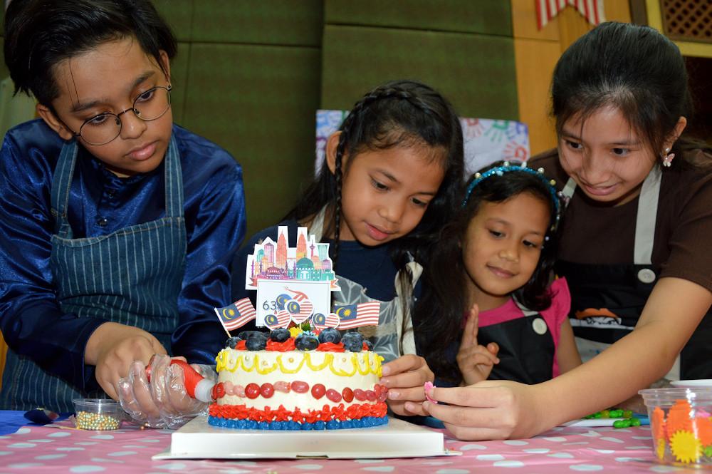 Thirty-three children of staffers of the Malaysian Embassy in Bangkok celebrate National Day August 30, 2020. — Bernama pic