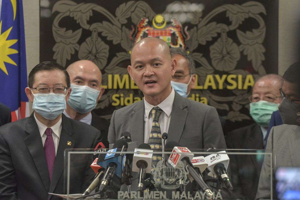 DAP lawmaker Dr Ong Kian Ming says there are foreign nationals from 23 countries working and living in Malaysia who have left behind children and spouses and this blanket ban could mean that they would be separated indefinitely until the ban is lifted. — Picture by Shafwan Zaidon