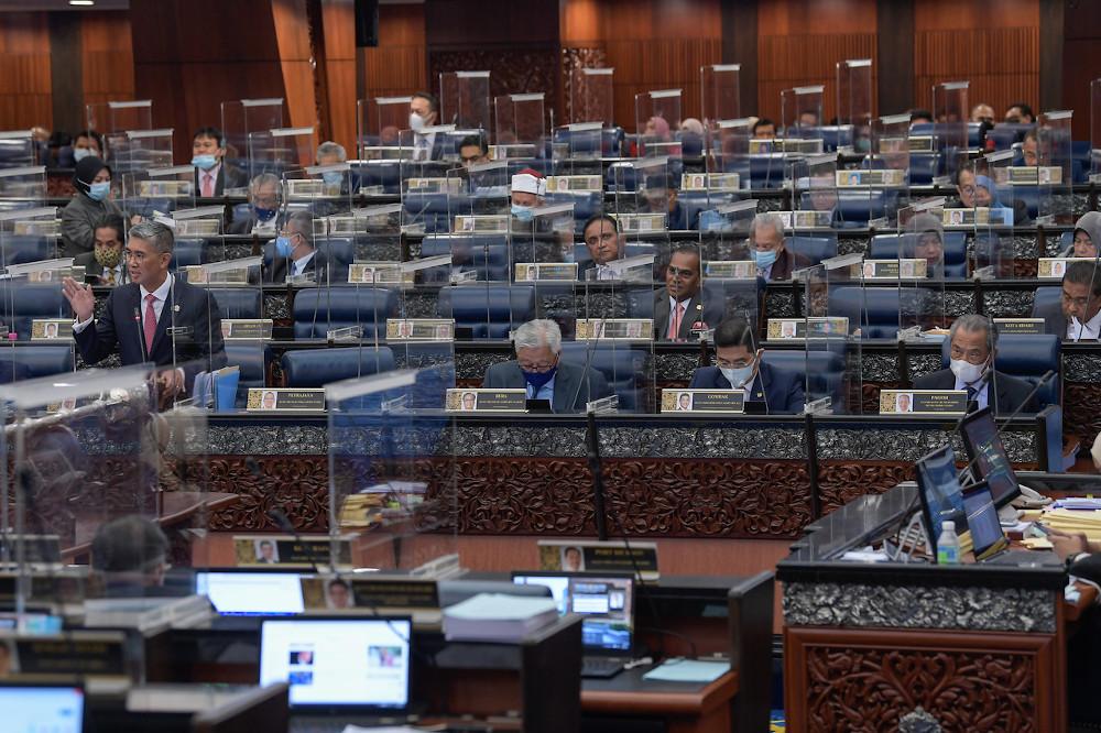 Finance Minister Datuk Seri Tengku Zafrul Abdul Aziz during the winding-up session for the Ministry of Finance in Kuala Lumpur August 24, 2020. — Bernama pic