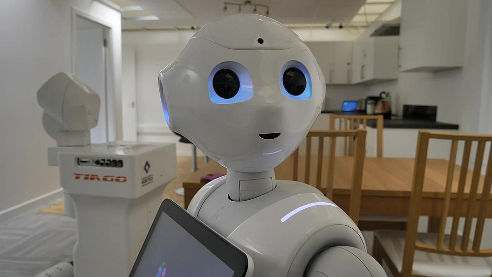 Scientists at a Scottish university have programmed robots including Pepper, the world's first humanoid robot launched in Japan in 2014, to perform tasks normally done by caregivers. — AFP pic