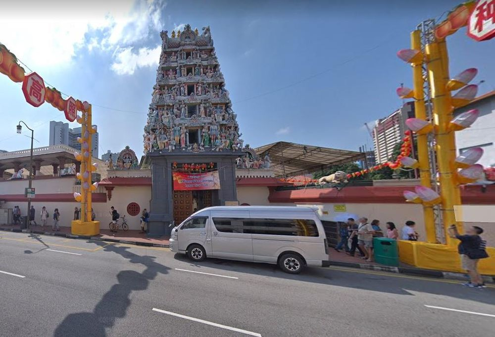 The chief priest of Sri Mariamman Temple along South Bridge Road is under probe for criminal breach of trust. — Google Maps pic via TODAY