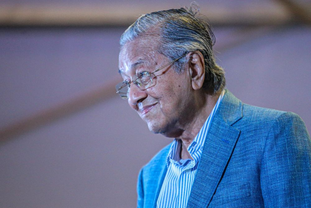 Pejuang was formed co-founded by former prime minister Tun Dr Mahathir Mohamad after they were sacked by Parti Pribumi Bersatu Malaysia. — Picture by Hari Anggara
