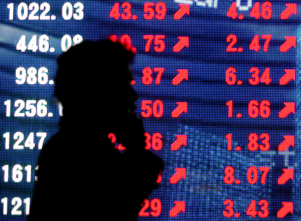 The benchmark Nikkei 225 index ended up 0.68 per cent, or 171.28 points, at 25,520.88, but the broader Topix index dipped 0.16 per cent, or 2.84 points, to 1,726.23. — Reuters pic