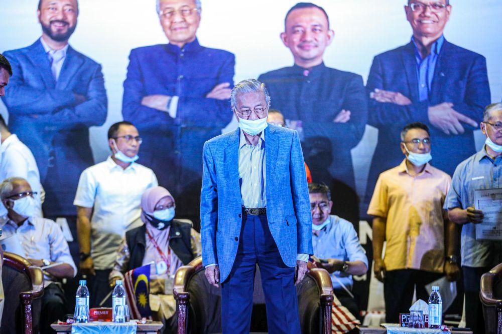马哈迪促请土著团结党党员支持和加入斗士党。-Hari Anggara摄-