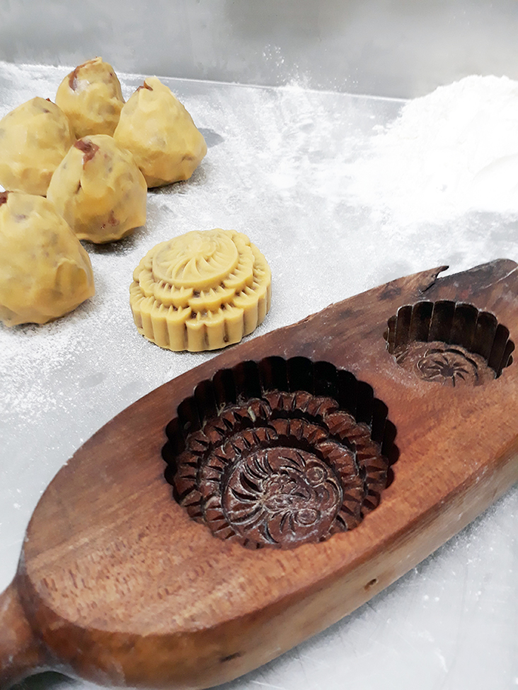 The mooncakes are all handmade using traditional recipes handed down from generation to generation.