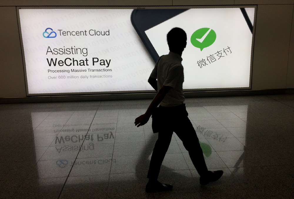 WeChat has had an average of 19 million daily active users in the United States, analytics firms Apptopia said in early August. — AFP pic