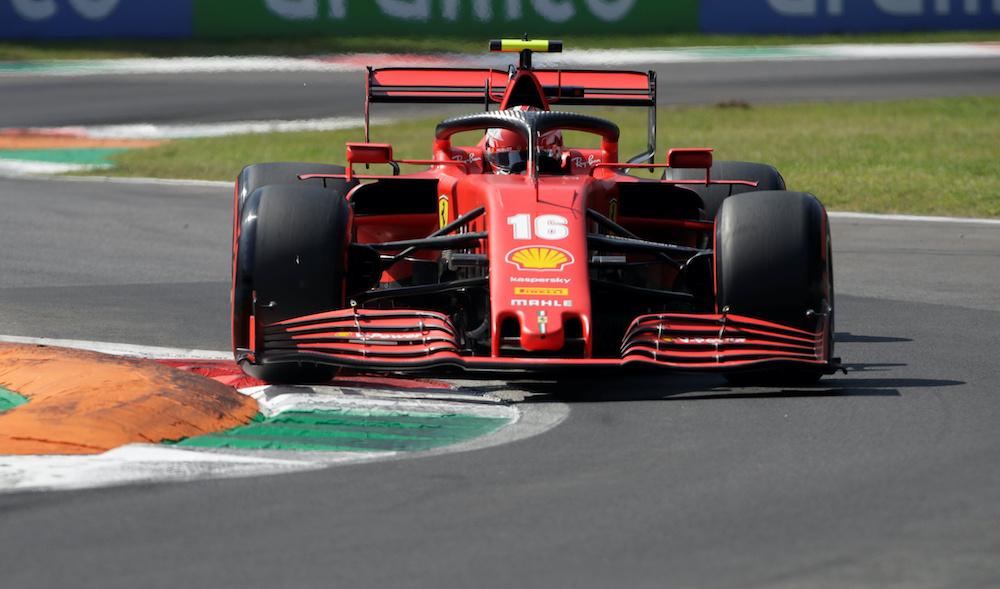 Ferrari's Charles Leclerc during practice in Monza September 5, 2020. — Luca Bruno/Pool via Reuters
