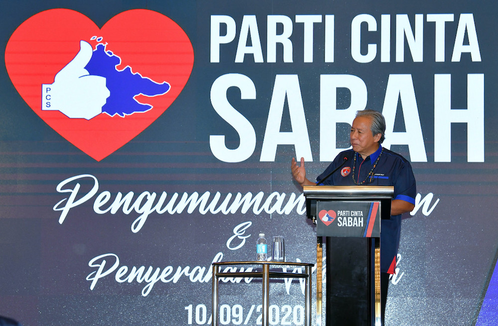 Parti Cinta Sabah is a local party led by former foreign minister Datuk Seri Anifah Aman, who is contesting in Bongawan, one of the 73 seats the party is vying for. — Bernama pic