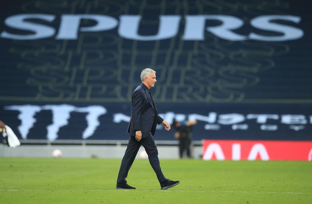 Tottenham Hotspur manager Jose Mourinho looks dejected after the match against Tottenham, September 13, 2020. — Pool via Reuters/Adam Davy