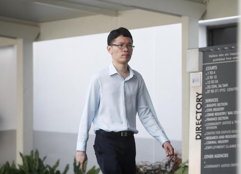 Lim Wei Ming outside the State Courts in October 2019. — TODAY pic