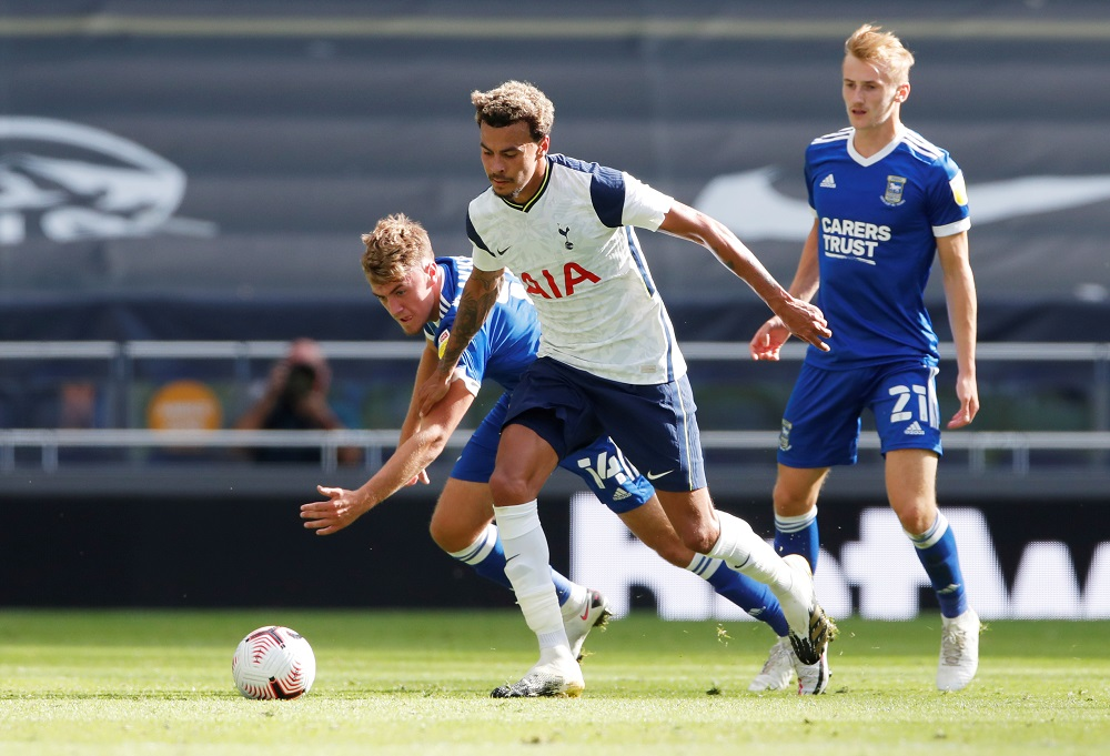 Tottenham Hotspur's Dele Alli in action during the match against Ipswich Town at the Tottenham Hotspur stadium in London August 22, 2020. — Action Images via Reuters