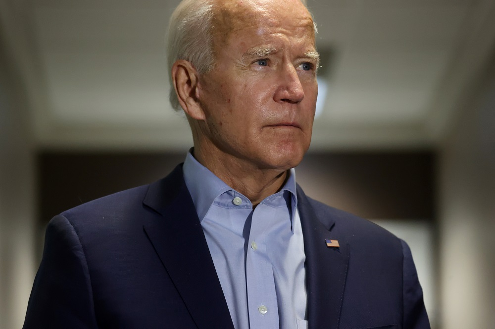 Democratic US presidential nominee and former Vice President Joe Biden speaks about the death of US Supreme Court Associate Justice Ruth Bader Ginsburg in Delaware September 18, 2020. — Reuters pic