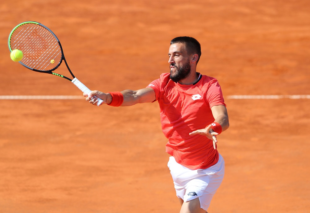 Organisers did not reveal the names of those who had been pulled out but Damir Dzumhur (pic) said he had been withdrawn because his coach Petar Popović had returned a positive test. — Reuters pic