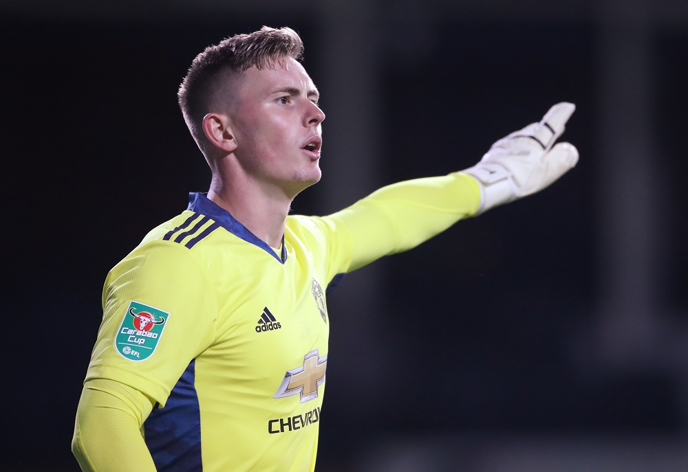 Manchester United's Dean Henderson in action during the match against Luton Town in Luton September 22, 2020. — Reuters pic