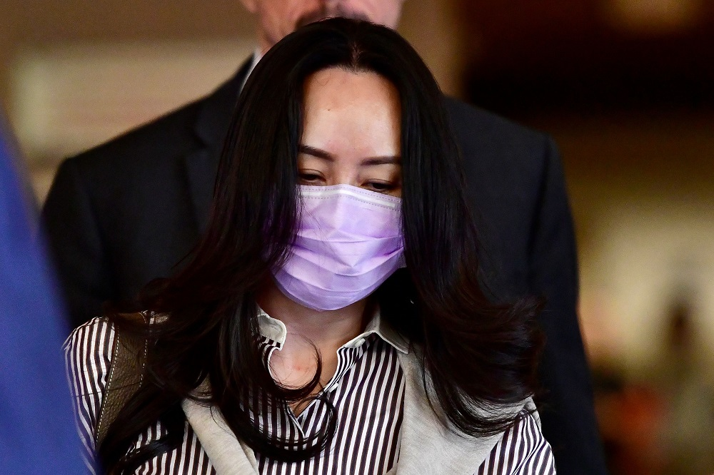 Huawei Technologies Chief Financial Officer Meng Wanzhou leaves a court hearing during a break in Vancouver September 28, 2020. — Reuters pic