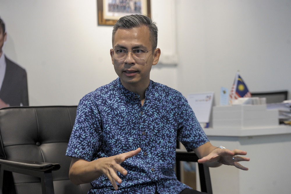 Lembah Pantai MP Fahmi Fadzil speaks to during an interview with Malay Mail in Bangsar September 11, 2020. — Picture by Shafwan Zaidon