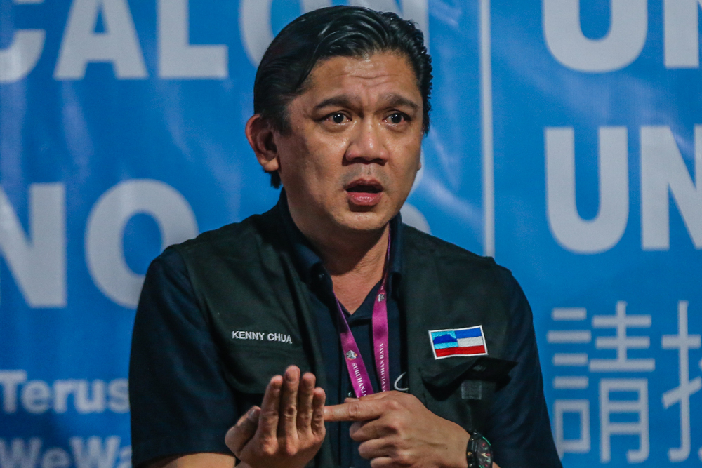 Independent candidate for the Inanam constituency Kenny Chua claims he has Jeffrey Kitingan's 'blessing' to run. — Picture by Firdaus Latif