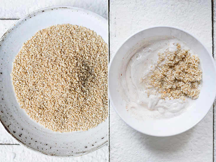Overnight steel cut oats are nutty, chewy and toothsome.