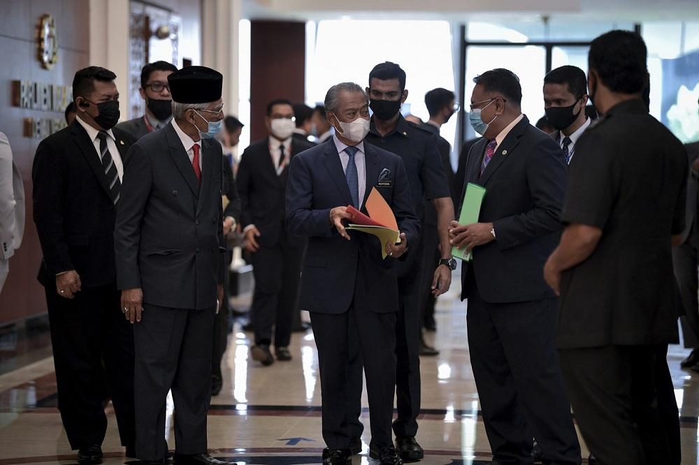 Prime Minister Tan Sri Muhyiddin Yassin at the Parliament in Kuala Lumpur September 7, 2020. — Bernama pic