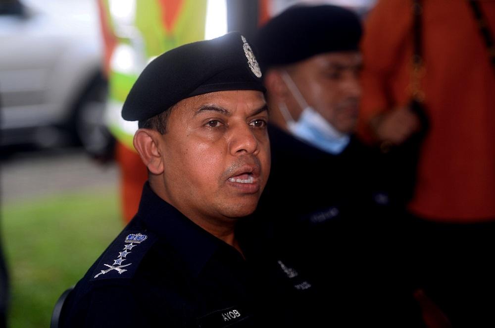 Johor Police Chief Datuk Ayob Khan Mydin Pitchay speaks during a press conference in Johor Baru September 17, 2020. — Bernama pic