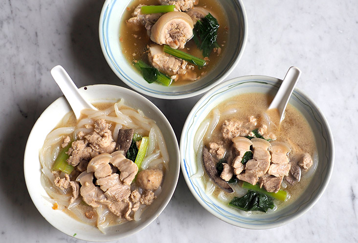You can add sliced pork belly to your pork noodles