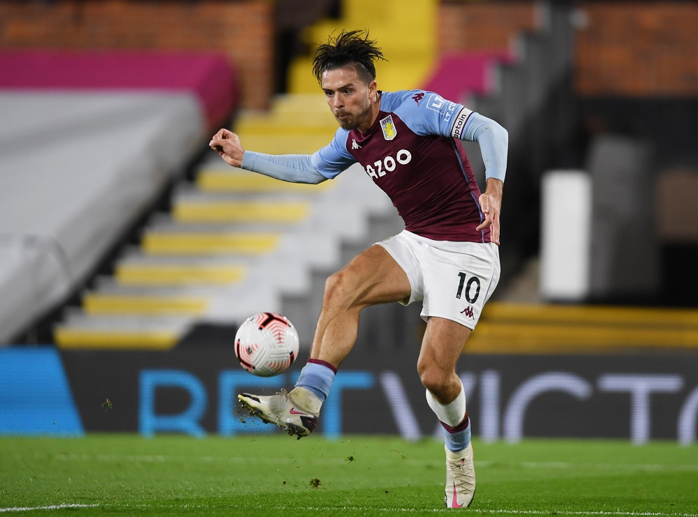Aston Villa's Jack Grealish in action during the match against Fulham September 29, 2020. ― Reuters pic