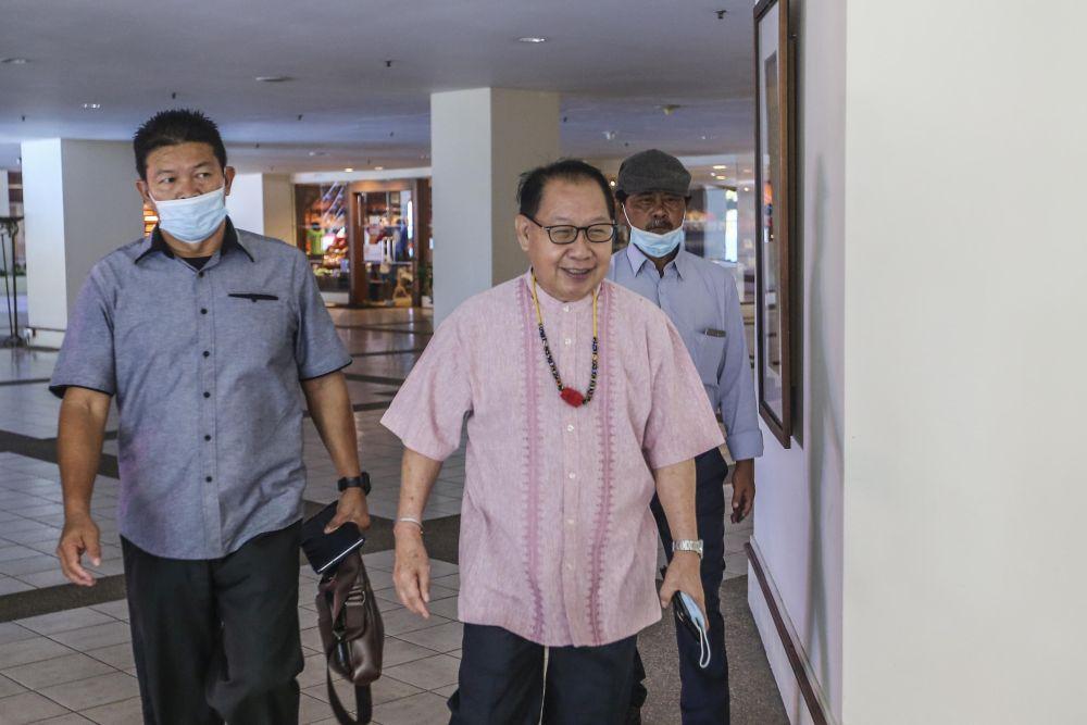 Sabah Parti Solidariti Tanah Airku president Datuk Jeffrey Kitingan is pictured at the Magellan Sutera Resort in Kota Kinabalu September 27, 2020. — Picture by Firdaus Latif