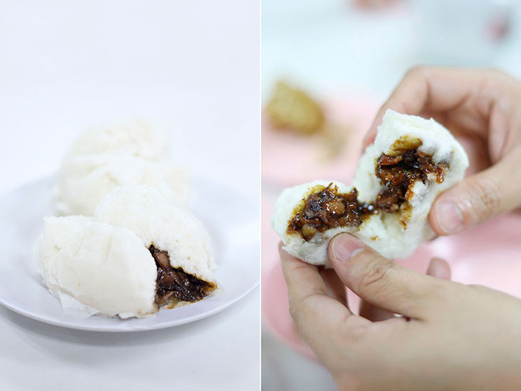 Fluffy and hot from the steamer, a freshly made 'cha siu bao' is a real delight.