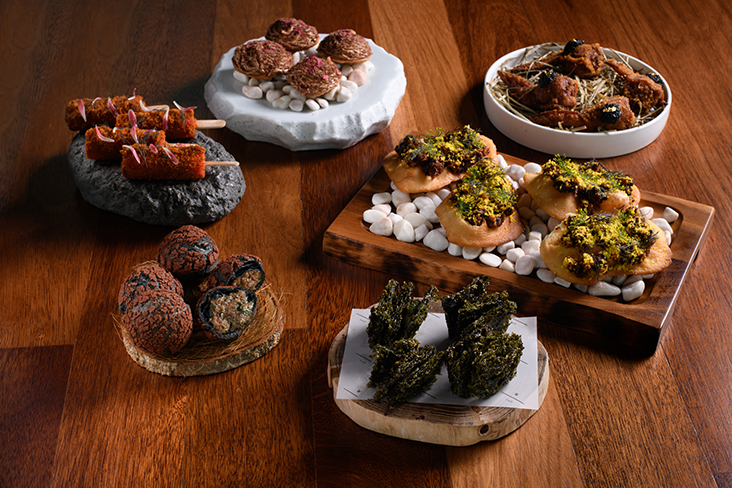 Drop by MoMo's Kuala Lumpur to enjoy these various bite-sized snacks emphasising local produce by Communal Table by gēn 根 — Pictures courtesy from Communal Table by gēn 根
