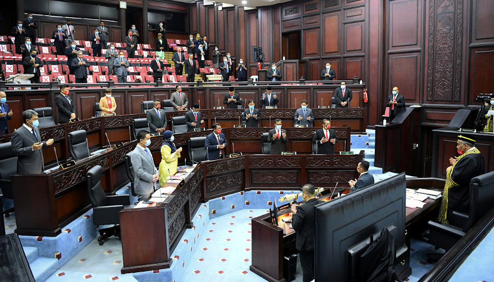 The Second Meeting (Special-Additional Budget) of the Third Term of the 14th State Legislative Assembly in Seremban, September 3, 2020. — Bernama pic