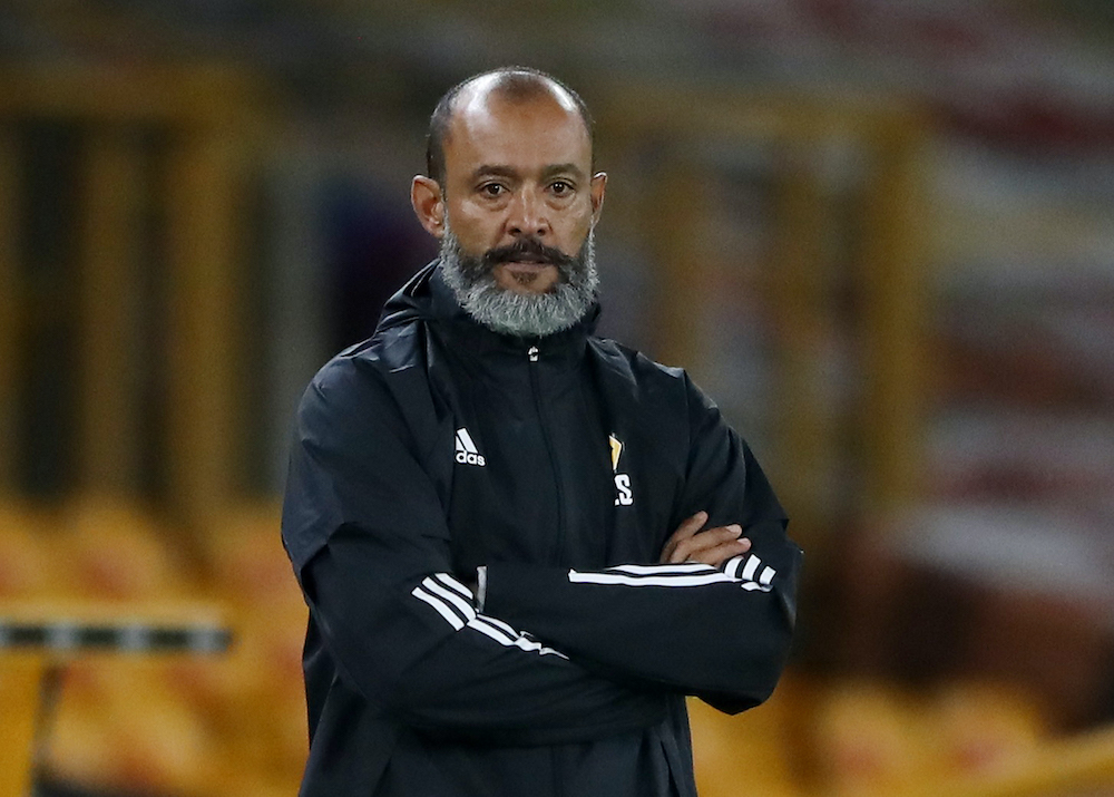 Wolverhampton Wanderers manager Nuno Espírito Santo during the match between Wolverhampton Wanderers and Stoke City in Molineux Stadium, Wolverhampton, September 17, 2020. ― Reuters pic