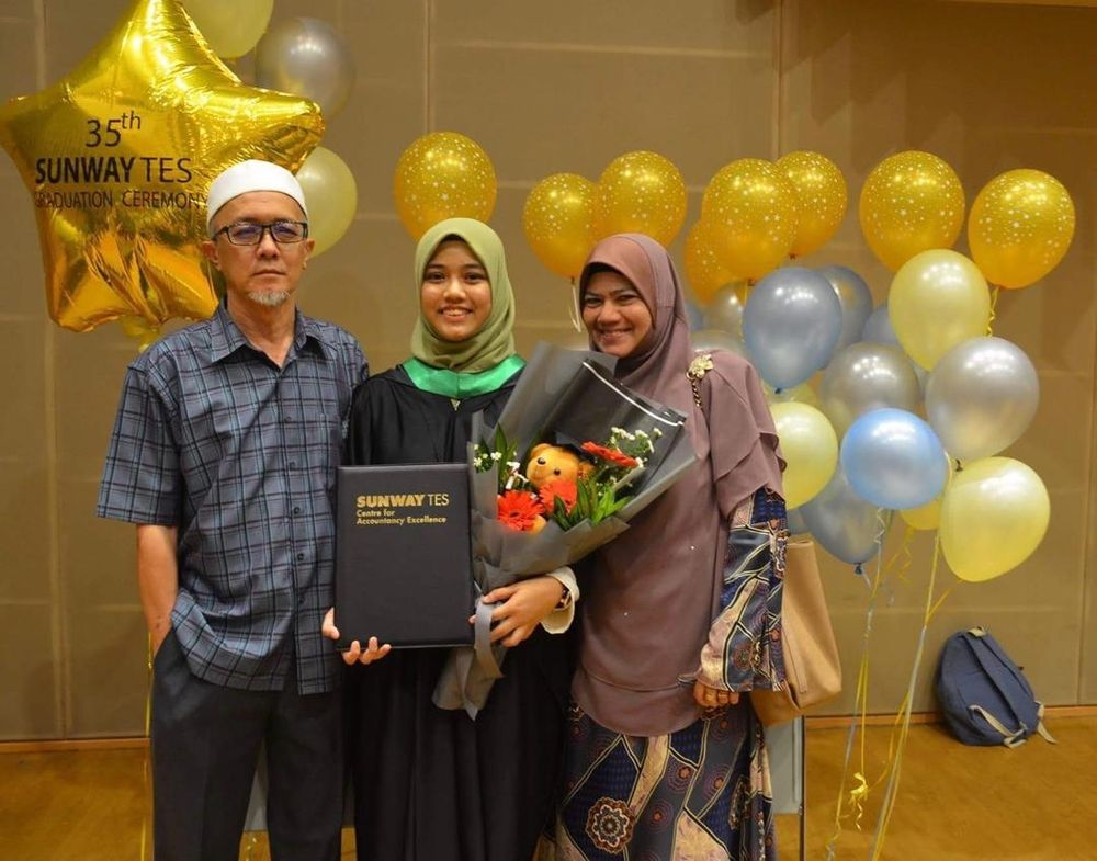 Aqilah said her parents have been considerate of her condition and will take it into account when planning meals and holidays for the family. — Picture courtesy of Nur Aqilah Shaari