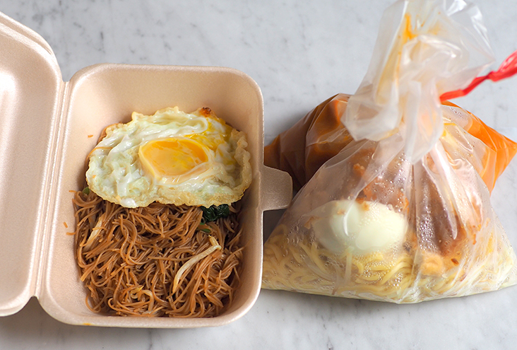 The fried 'beehoon' and 'mee rebus' make for a satisfying breakfast.