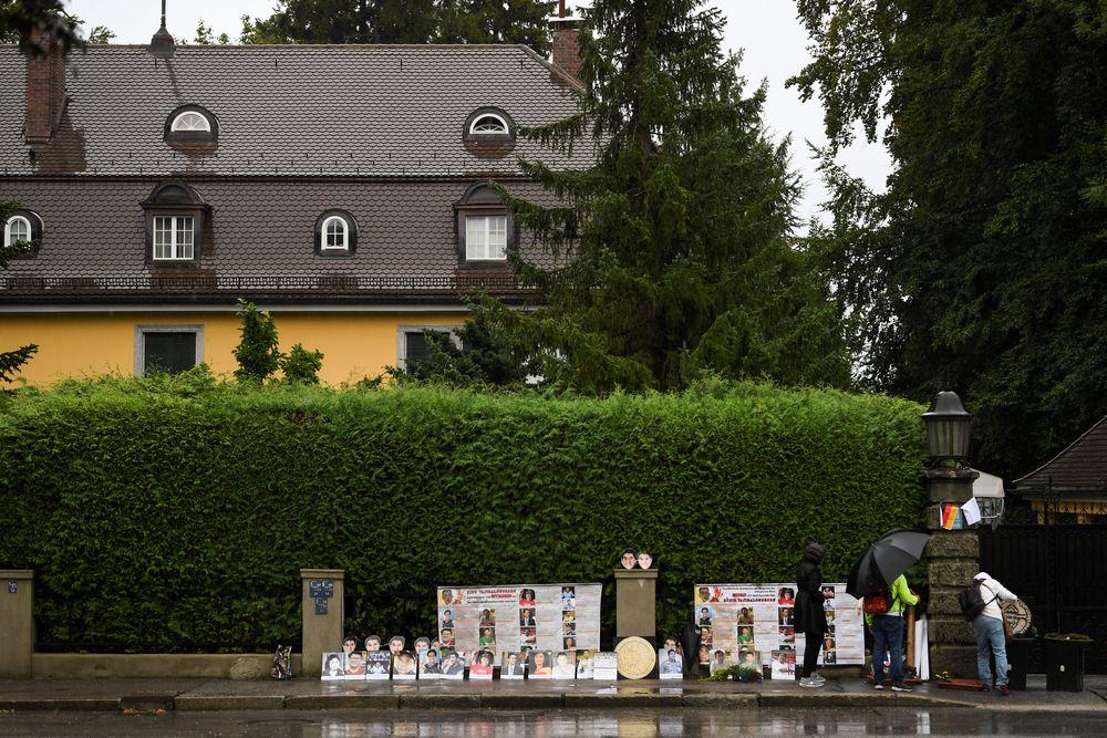 The villa where Thai King Maha Vajiralongkorn often resides in Tutzing, Germany, September 25, 2020. — Reuters pic