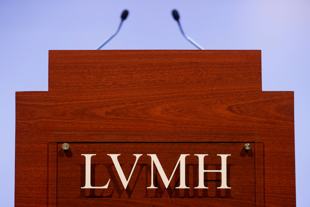 A LVMH luxury group logo is seen prior to the announcement of their 2019 results in Paris, France, January 28, 2020. — Reuters pic