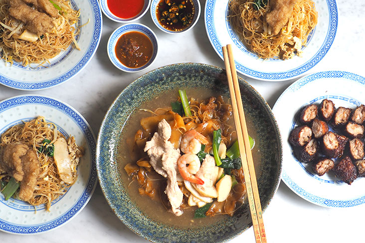 You can enjoy an excellent 'char hor fun' with broader flat rice noodles, fish meat fried 'bee hoon' and Penang-style 'lorbak' from Danny Penang Tua Pan – Pictures by Lee Khang Yi