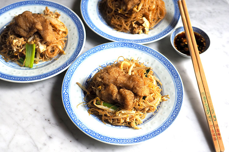 The fish meat fried 'bee hoon' is exceptional especially when eaten at the restaurant as you get light, crispy fish and fragrant noodles with a smoky flavour
