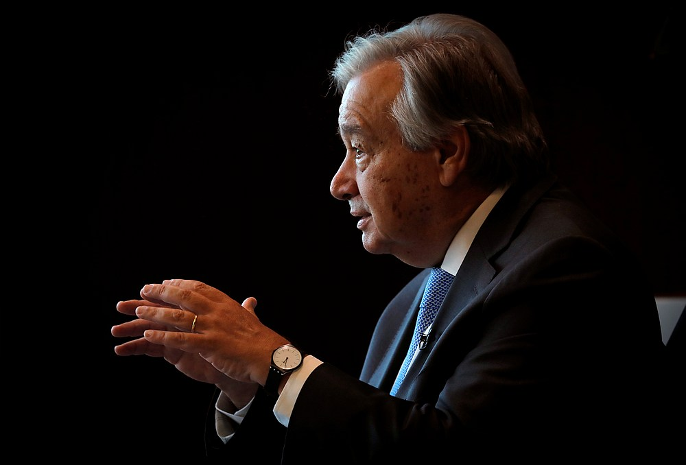 United Nations Secretary-General Antonio Guterres also criticised countries for a lack of unity in trying to solve other global challenges. — Reuters pic
