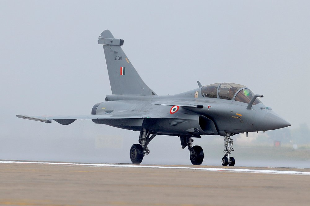Rafale fighter jet taxis on the tarmac during its induction ceremony at an air force station in Ambala, India September 10, 2020. — Reuters pic