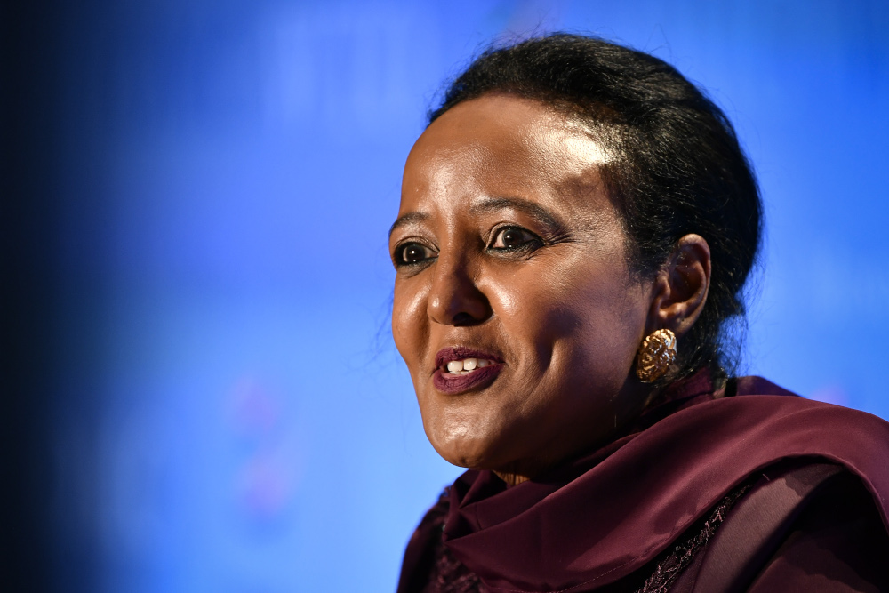 Amina Mohamed of Kenya, who is one of eight candidates vying to become the WTO's next director-general, said the organisation would benefit from better reflecting all those around the world who contribute to global trade. — AFP pic