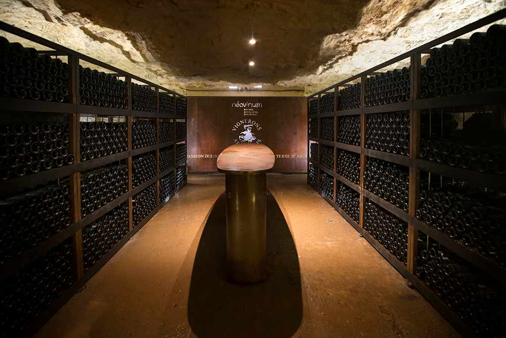Ardeche winemakers have stored 10,000 bottles at a depth of 50 meters in the Aven d'Orgnac cave system. — Picture courtesy of Vignerons Ardechois via AFP